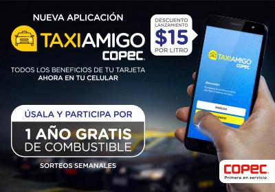 Descarga la nueva Aplicación TaxiAmigo Copec!