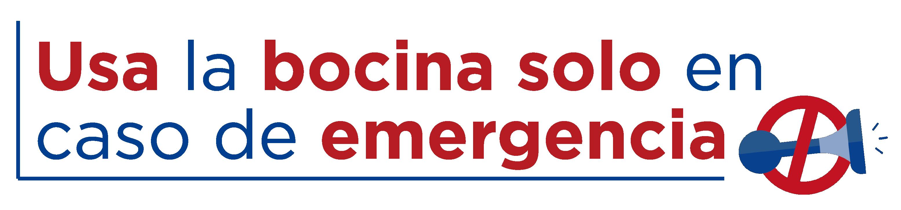 Usa la bocina solo en caso de emergencia