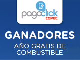 GANADORES: USA PAGOCLICK Y PARTICIPA POR UNO DE LOS 5 PREMIOS DE UN AÑO GRATIS DE COMBUSTIBLE
