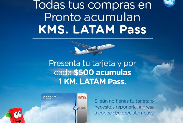Desde Hoy, tus compras en Pronto también acumulan KMS. LATAM Pass