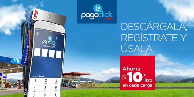 Ahorra $10 por litro usando PagoClick