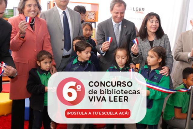 Viva Leer Copec vuelve con el 6º Concurso de Bibliotecas Escolares