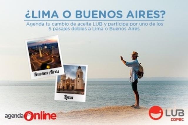 Participa por 5 pasajes dobles a Lima o Buenos Aires con LUB [PROMOCIÓN FINALIZADA]
