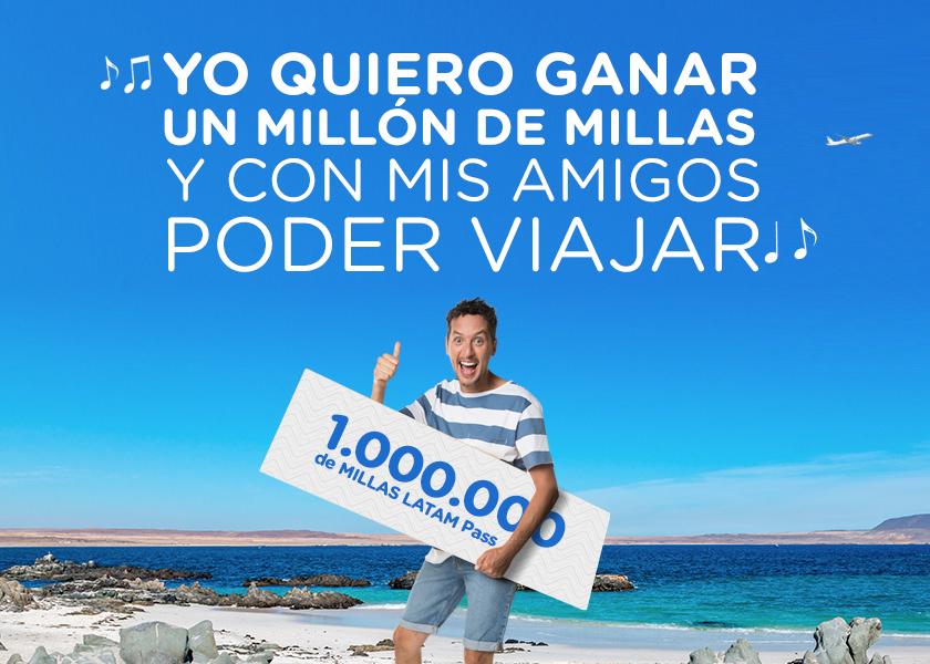 #PorFinVerano y Jorge te regalan 1.000.000 de Millas LATAM Pass.