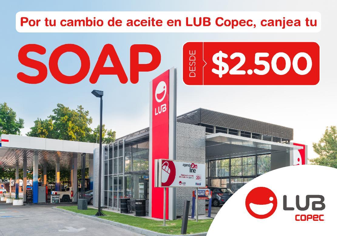 Haz tu cambio de aceite en LUB Copec y canjea tu SOAP