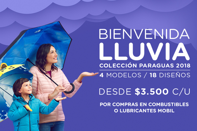 Bienvenida Lluvia con Paraguas Copec