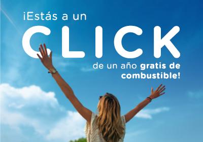 ¡Estás a un Click de un año gratis de combustible!