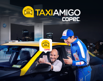 Inscríbete en la Aplicación TaxiAmigo Copec y accede a un descuento exclusivo!