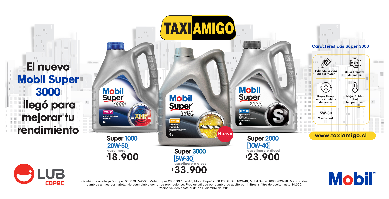 Obtén precios exclusivos con tu tarjeta Taxi Amigo al realizar tu cambio de aceite en Copec