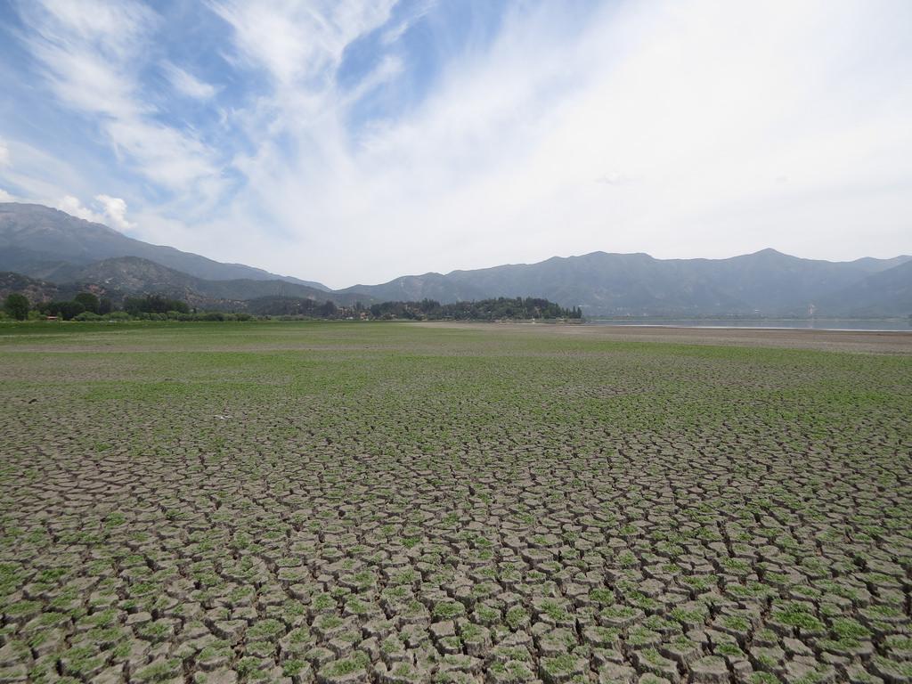 La Laguna de Aculeo se secó por completo