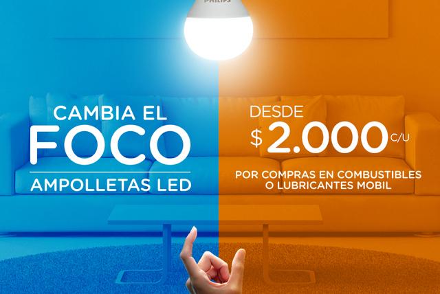 Cambia el Foco con Copec, nueva promoción de ampolletas de LED