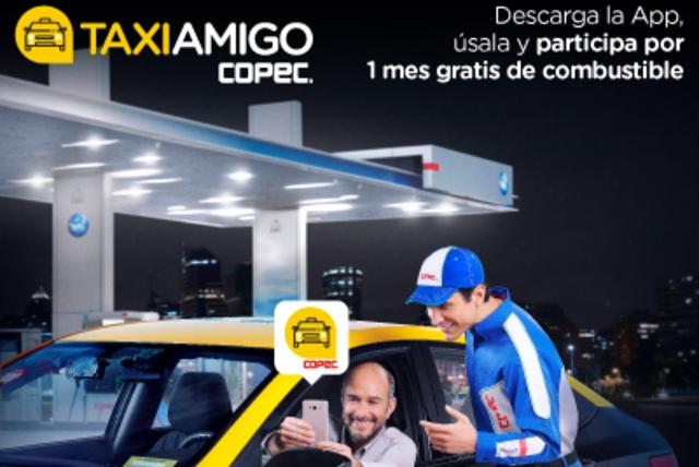 ¡Participa por 1 mes gratis de combustible todos los días con la aplicación TaxiAmigo!