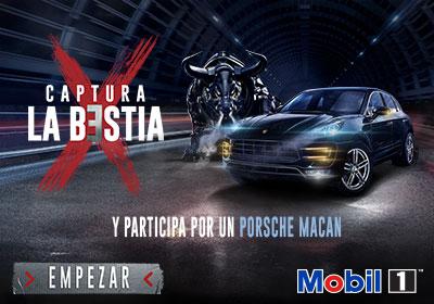 ¡Captura La Bestia con Mobil 1 y participa por un increíble Porsche Macan!